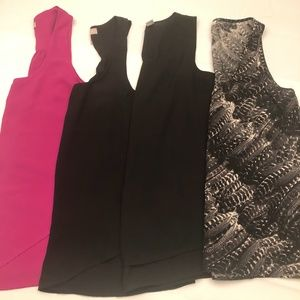Lot of 4 silky tank tops $40,  Size M